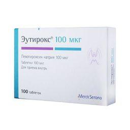 Эутирокс, 100 мкг, таблетки, 100 шт.