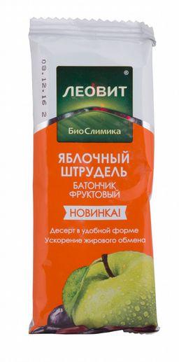 Леовит БиоСлимика Батончик фруктовый яблочный штрудель, батончик, 30 г, 1 шт.