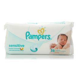 Салфетки влажные детские Pampers Sensitive (сменный блок), 56 шт.