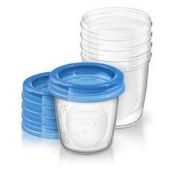 Набор контейнеров для грудного молока Philips AVENT, 180 мл, 5 шт.