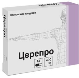 Церепро, 400 мг, капсулы, 14 шт.
