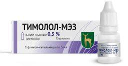 Тимолол-МЭЗ, 0.5%, капли глазные, 5 мл, 1 шт.
