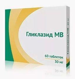 Гликлазид МВ, 60 мг, таблетки с модифицированным высвобождением, 30 шт.